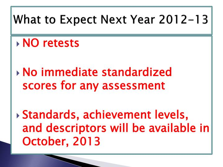 What to Expect Next Year 2012-13