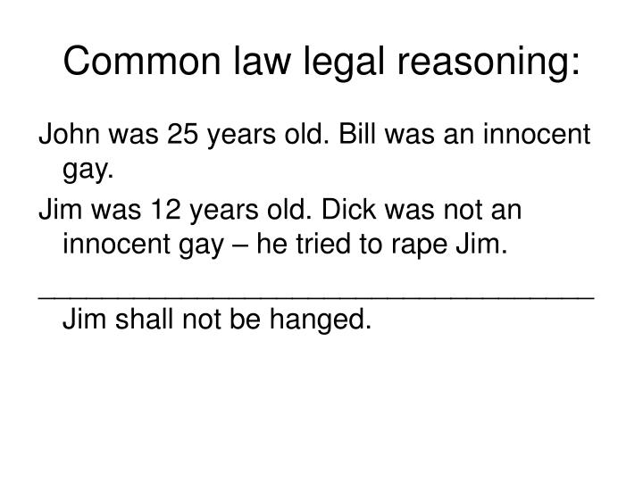 Common law legal reasoning: