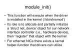 module init