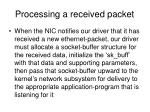 processing a received packet