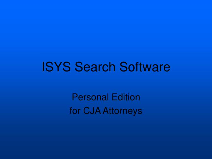 isys search software n.
