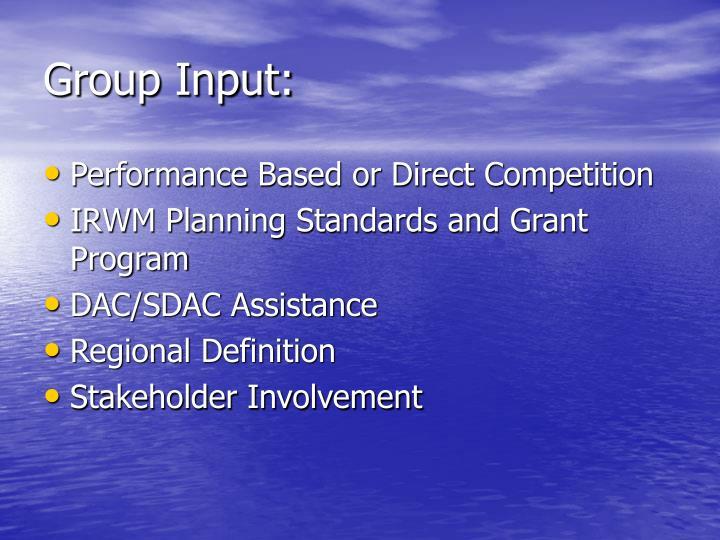 Group Input: