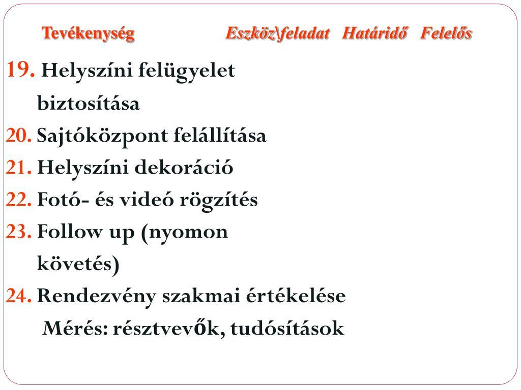 eszközök felállítása)