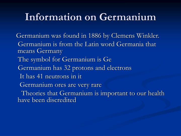 Ppt Germanium Powerpoint Presentation Id3471368