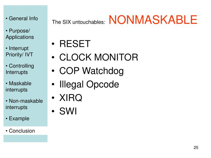 The SIX untouchables: