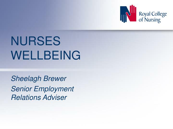 nurses wellbeing n.