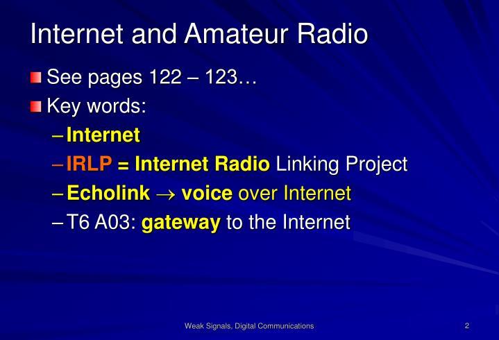 Internet and amateur radio
