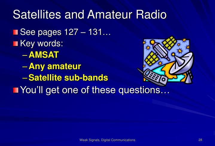 Satellites and Amateur Radio