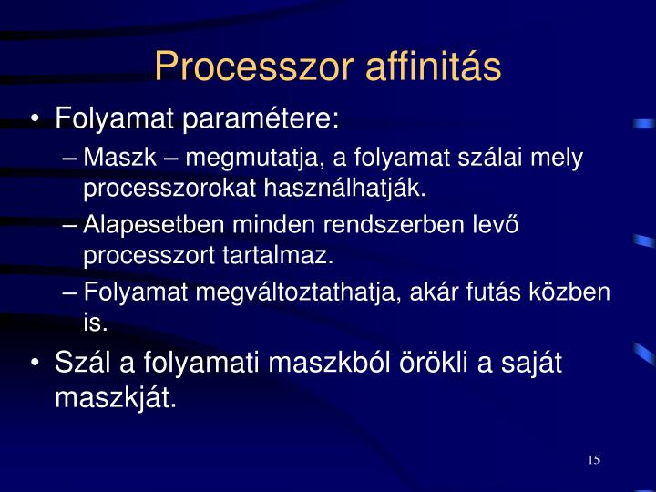 Processzor affinitás