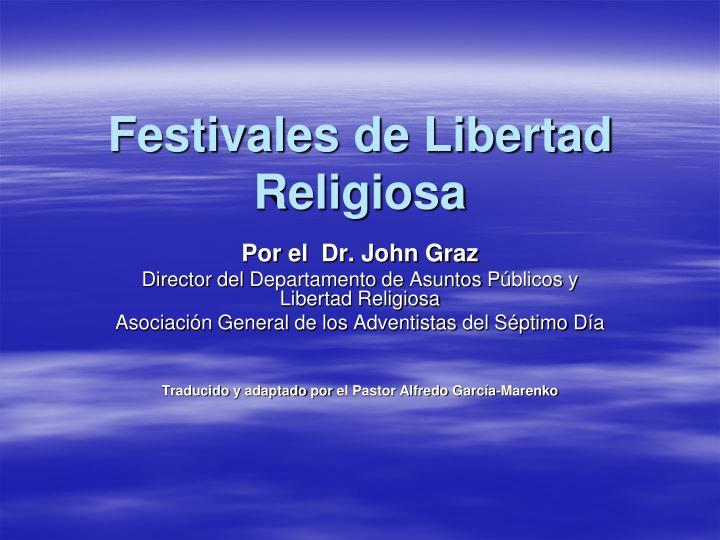 festivales de libertad religiosa n.