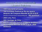 historia de los festivales de libertad religiosa