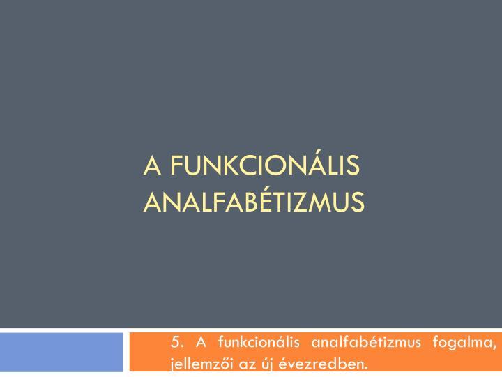 a funkcion lis analfab tizmus n.