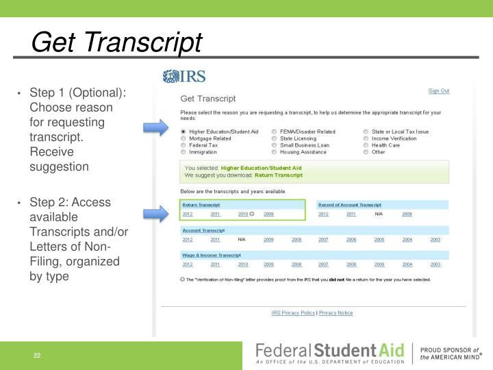 Get Transcript
