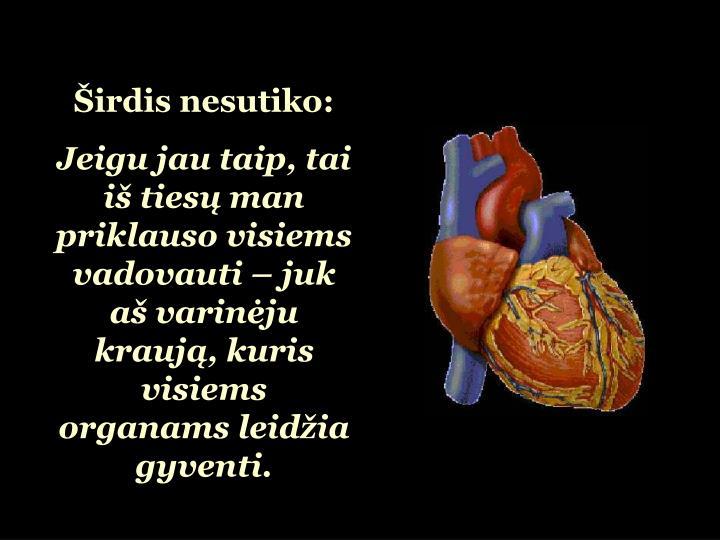 Širdis nesutiko:
