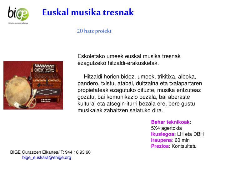 Euskal musika tresnak