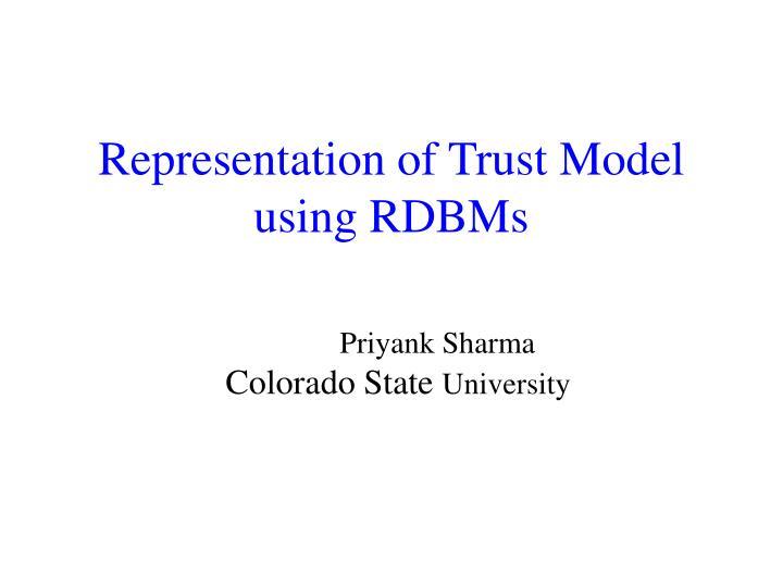 representation of trust model using rdbms n.