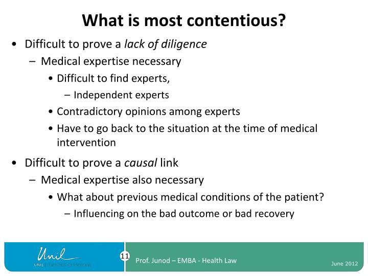 What is most contentious?