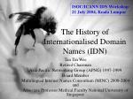 the history of internationalised domain names idn