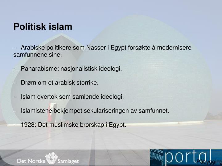 Politisk islam