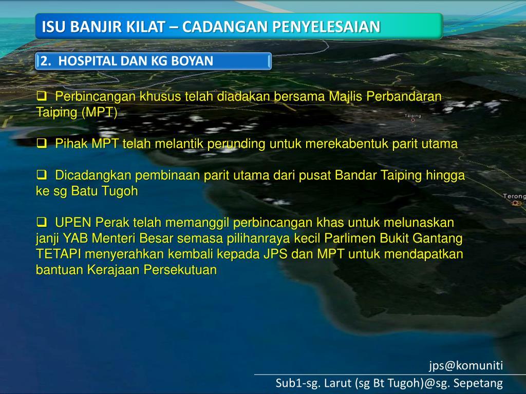 PPT SG LARUT SG BATU TUGOH SG SEPETANG PowerPoint
