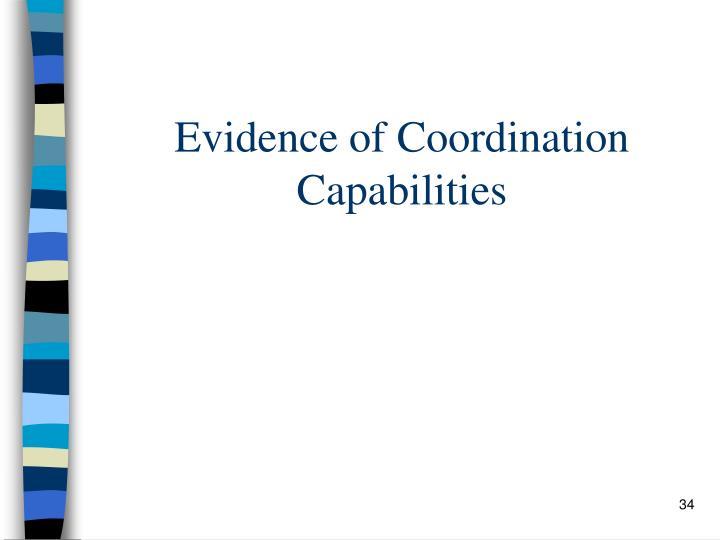 Evidence of Coordination Capabilities