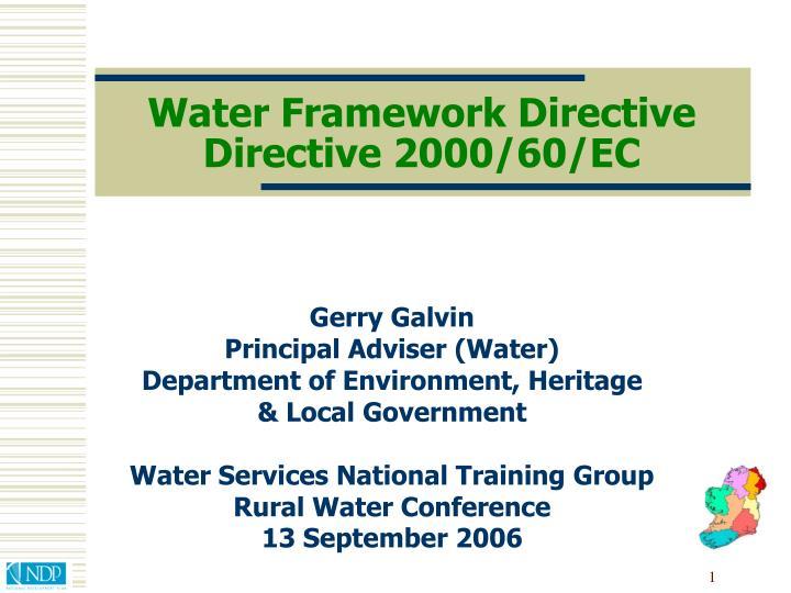 water framework directive directive 2000 60 ec n.