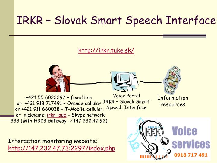 IRKR – Slovak Smart Speech Interface