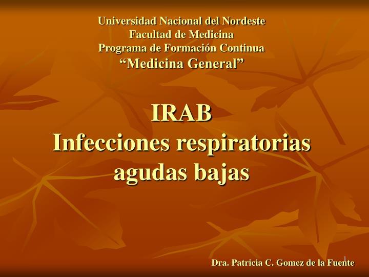 irab infecciones respiratorias agudas bajas n.