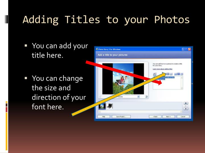 Adding Titles to your Photos