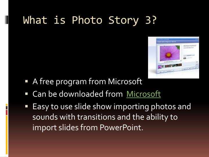 What is photo story 3