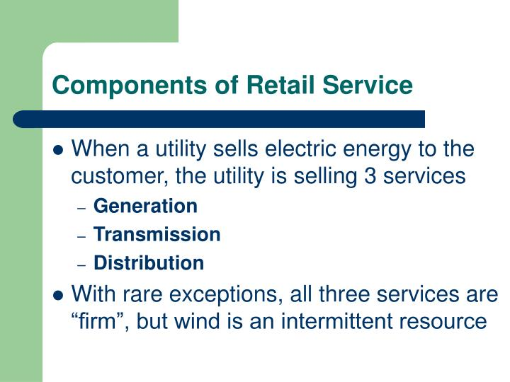 Components of Retail Service