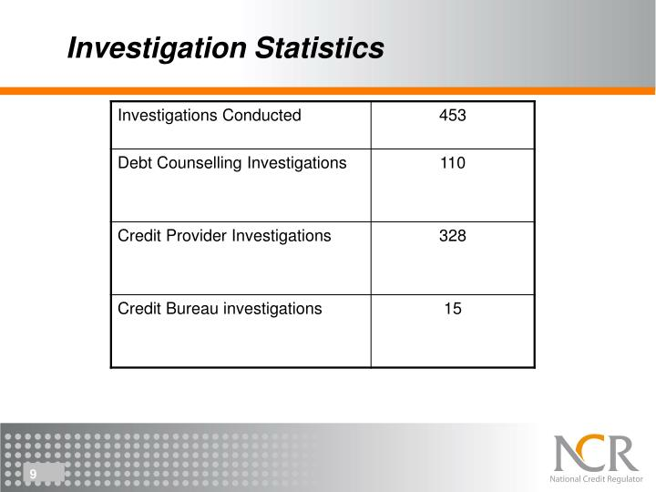 Investigation Statistics