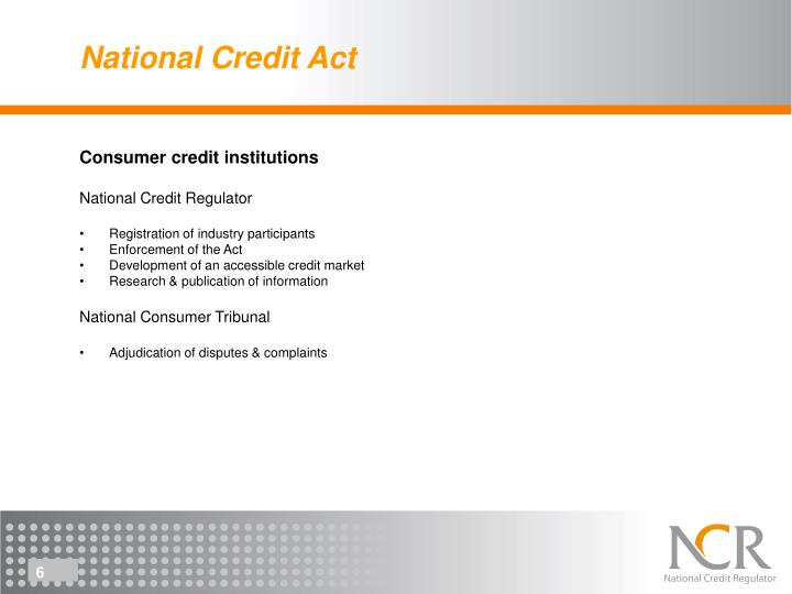 National Credit Act