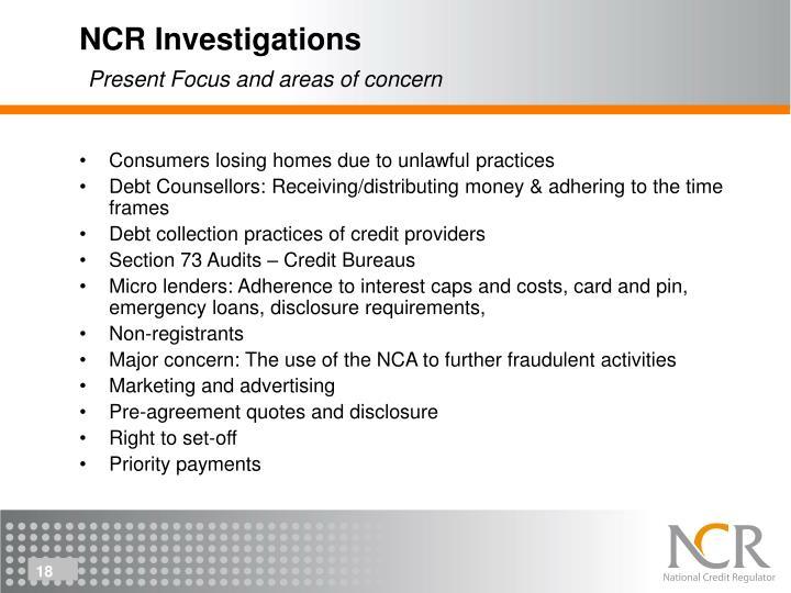 NCR Investigations
