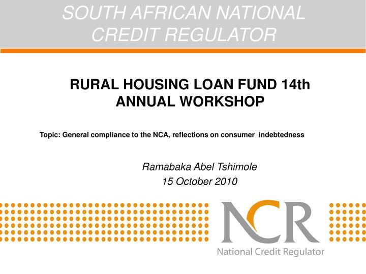 South african national credit regulator