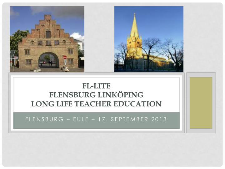 Fl lite flensburg link ping long life teacher education