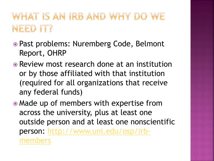 What is an irb and why do we need it