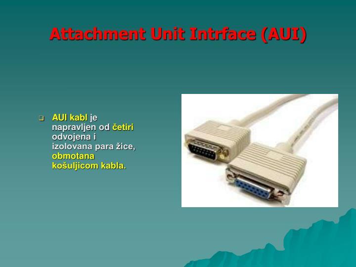 Attachment Unit Intrface (AUI)