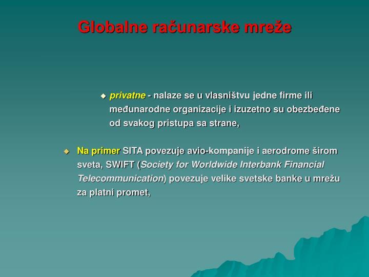 Globalne računarske mreže