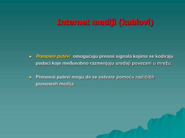 Internet mediji (kablovi)