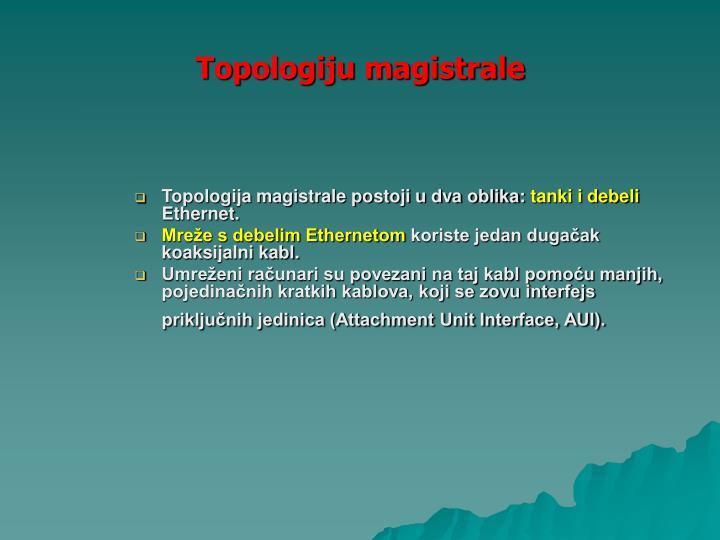 Topologiju magistrale