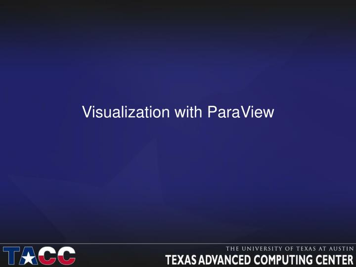 visualization with paraview n.
