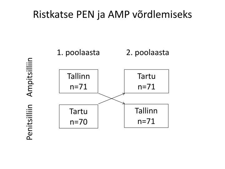 Ristkatse PEN ja AMP võrdlemiseks