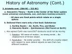 history of astronomy cont