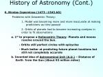 history of astronomy cont2
