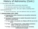 history of astronomy cont3