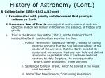 history of astronomy cont5