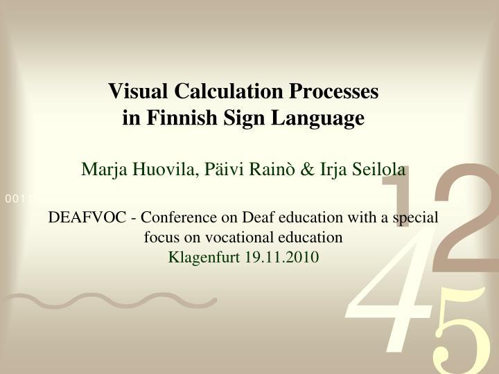 Visual Calculation Processes