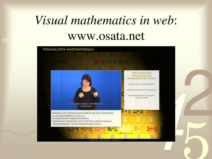 Visual mathematics in web
