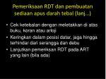 pemeriksaan rdt dan pembuatan sediaan apus darah tebal lanj3